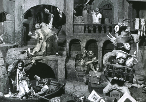 Pirates of the Caribbean: Model from the 1962 Disneyland TV show