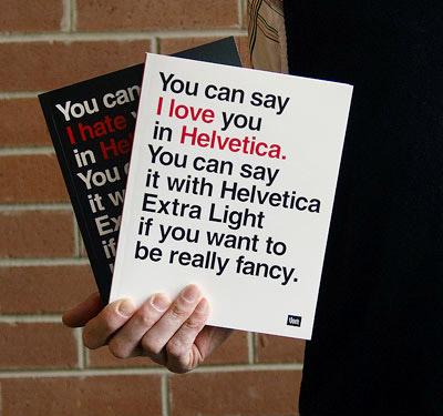 Helvetica notebook