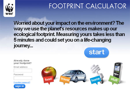 WWF Footprint Calculator