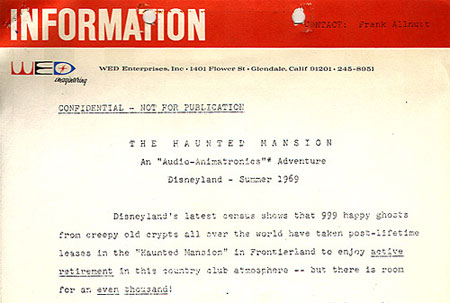 Haunted Mansion WED document
