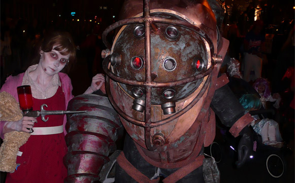 Awesome Big Daddy and Little Sister Halloween costumes