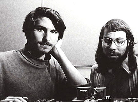 Steve Jobs and Steve Wozniak