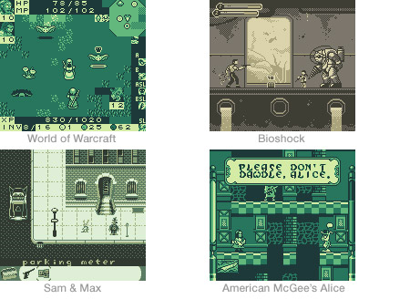 Game Boy demakes of modern video games