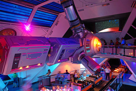 Space Mountain interior