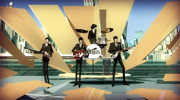 Beatles Rock Band intro animation