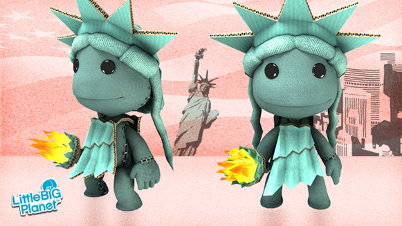 Little Big Planet's Statue of Liberty costume