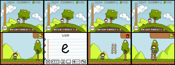 Scribblenauts: Using the ladder