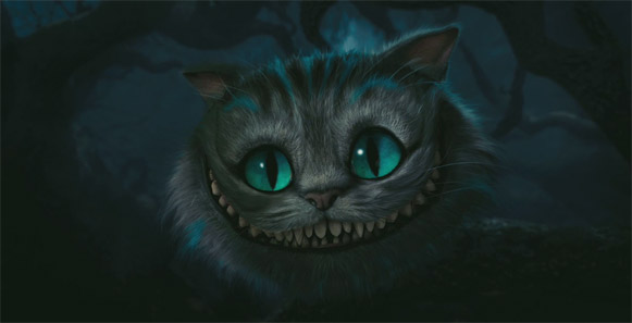 Alice in Wonderland cheshire cat still. If you follow our Twitter stream you