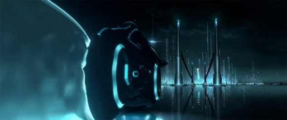 Still from the Tron Legacy test footage