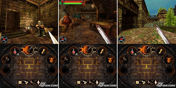 Fighting Fantasy: The Warlock of Firetop Mountain Nintendo DS screenshots