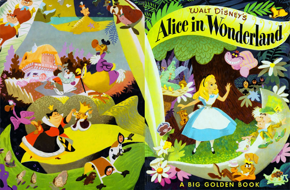 Alice in Wonderland Big Golden Book cover