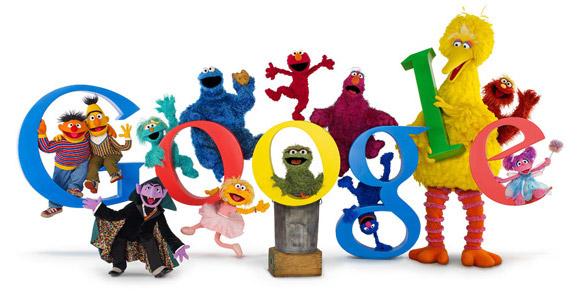 Sesame Street Google Doodle