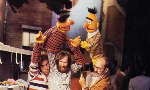 Jim Henson and Frank Oz with Bert and Ernie